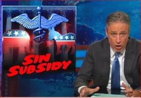 Jon Stewart Trashes Cable News Melodrama over Obamacare Ruling 'Chaos'