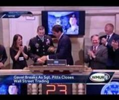 Medal of Honor Recipient Visits NYSE, Breaks Gavel